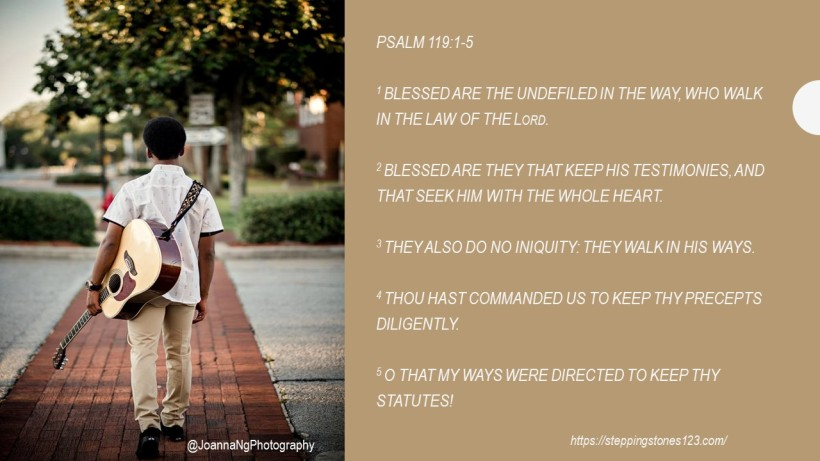 verse of the day Psalm 119 and 1 thru 5