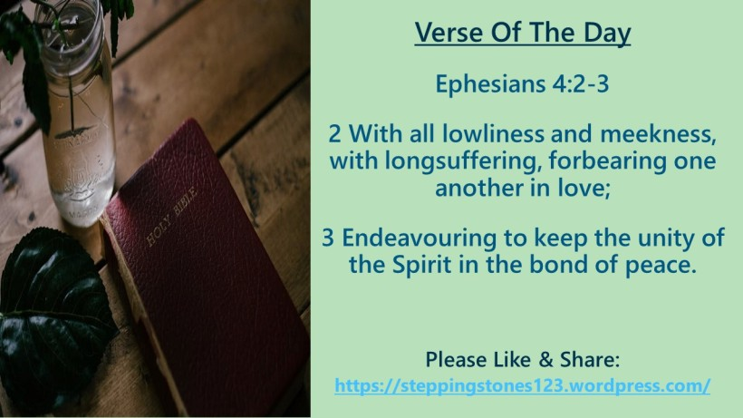 Verse Of The Day Template for My Blog ephesians 4 and 2