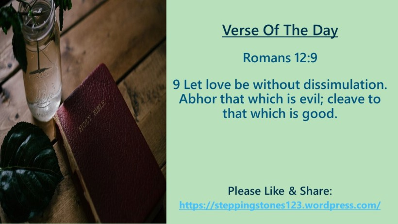 Verse Of The Day Template for My Blog romans 12 and 9