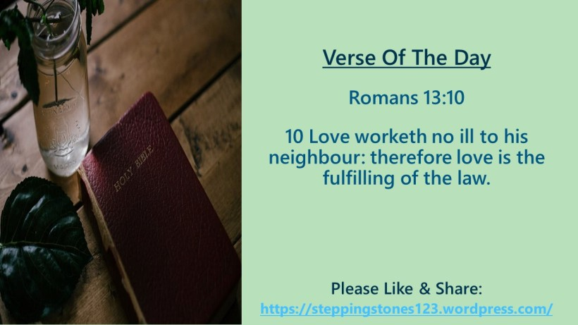 Verse Of The Day Template for My Blog romans 13 and ten