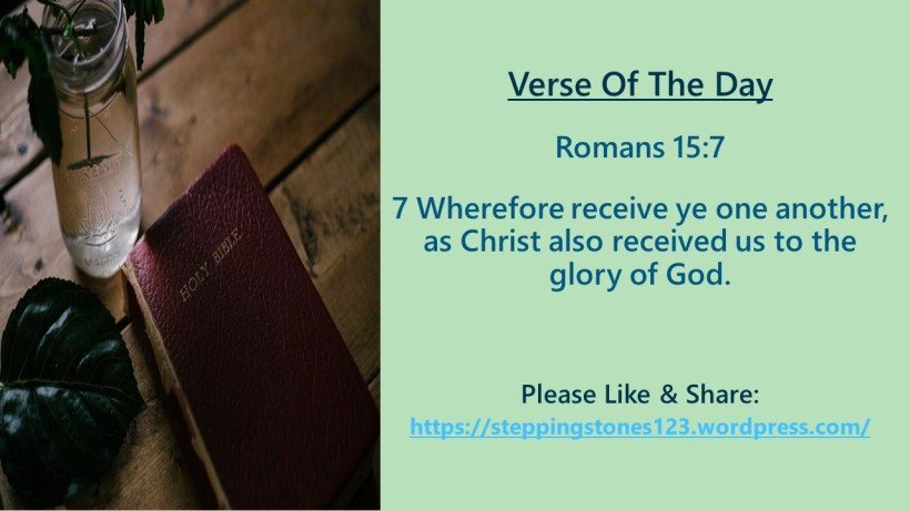 Verse Of The Day Template for My Blog romans 15 and 7