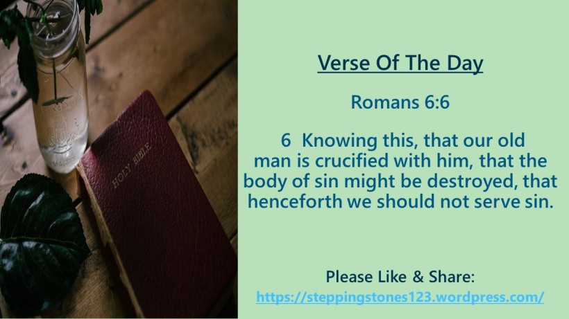 Verse Of The Day Template for My Blog romans 6 and 6 revised