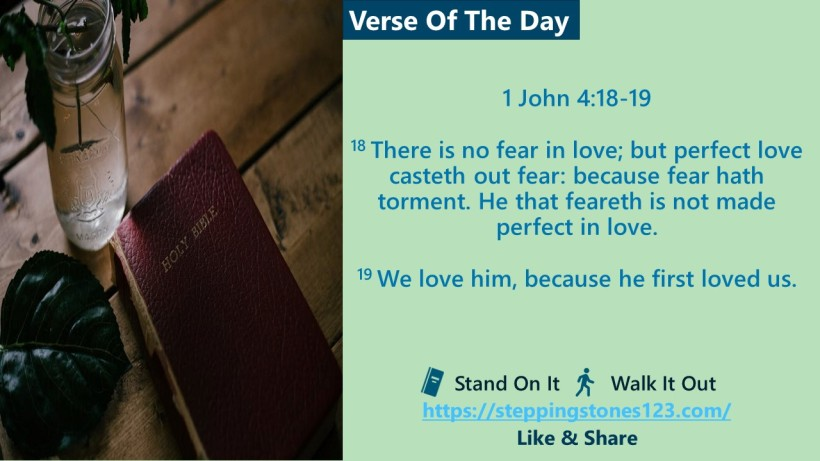 Verse Of The Day Website com Template for My Blog 1 john 4 and 18 and 19