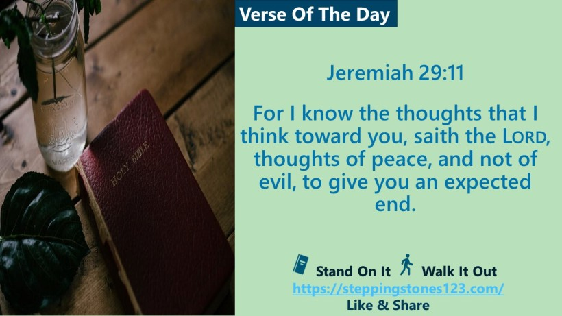 Verse Of The Day Website com Template for My Blog jeremiah 29 and 11