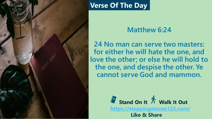 Verse Of The Day Website com Template for My Blog Matthew 6 and 24
