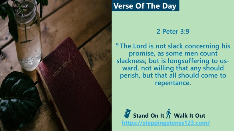 Verse Of The Day 2 Peter 3and 9