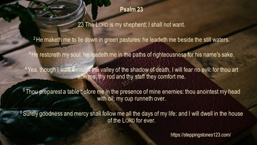Verse Of The Day Template for My Blog psalm 23