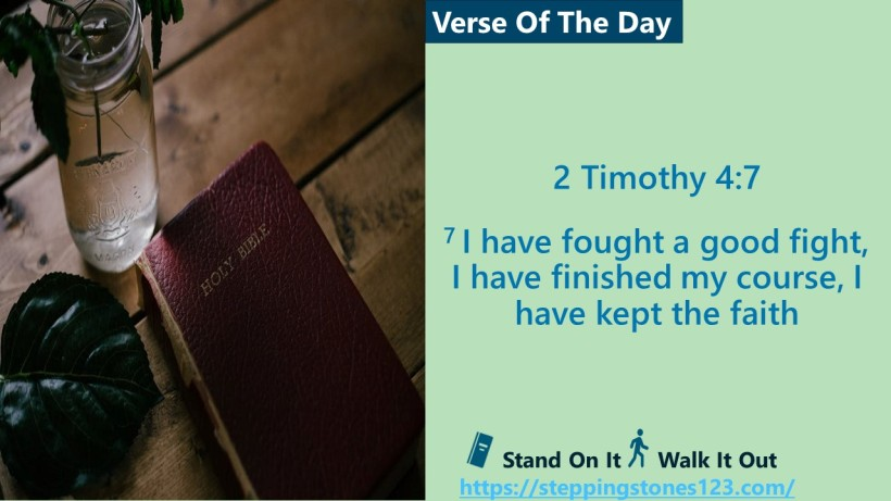 Verse Of The Day Website com Template for 2 Timothy 4and7
