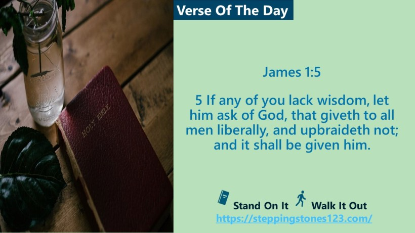 Verse Of The Day Website com Template for My Blog james 1