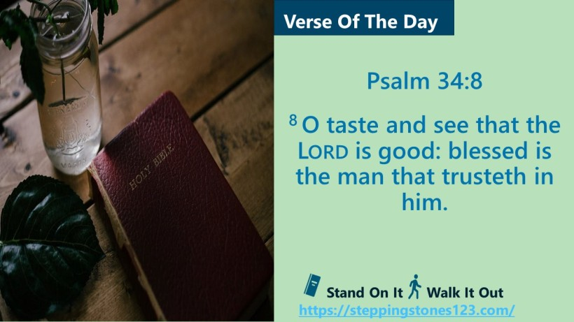 Verse Of The Day Website Psalm 34 and 8