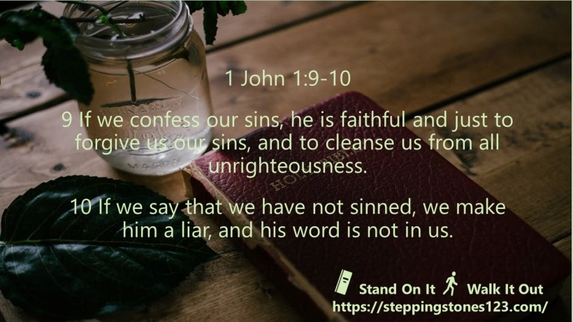 Verse Of The Day Wide 1 John 1 and 9 thru10