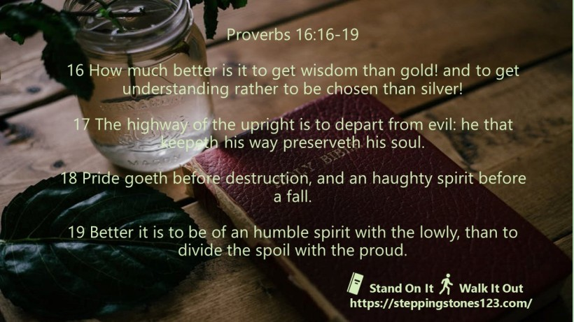 multiple verses Verse Of The Day Wide Proverbs 16 16 19