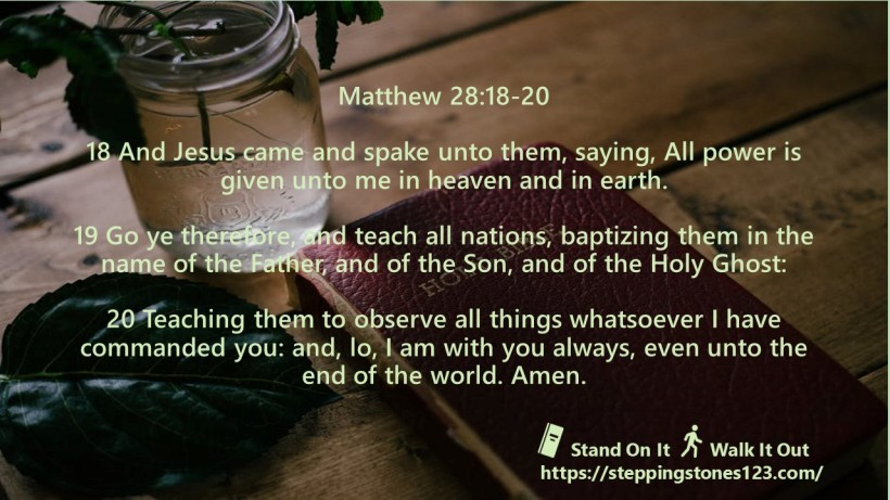 multiple verses Verse Of The Day Wide matthew 28 and 18 thru 20