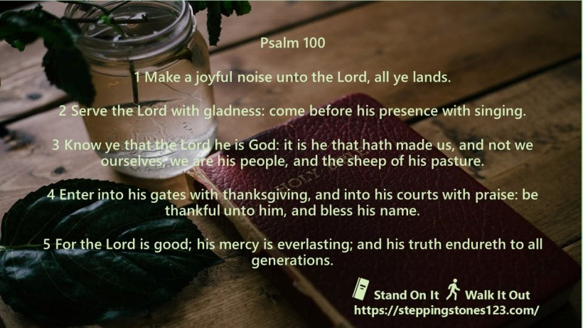 multiple verses Verse Of The Day Wide psalm 100 NOV 12